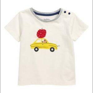 NWT Mini Boden Vehicle Print T-Shirt 6-12M baby